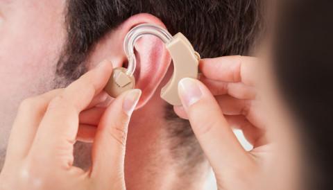 Wearing-hearing-aid